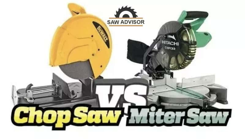 difference between miter saw vs chop saw