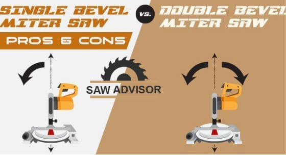 single vs double bevel miter