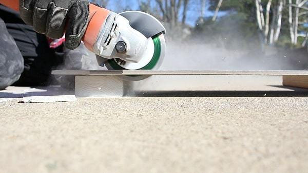 Cut Tile with Angle Grinder