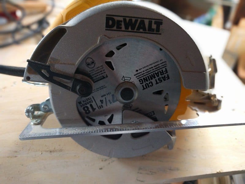 a corded circular saw