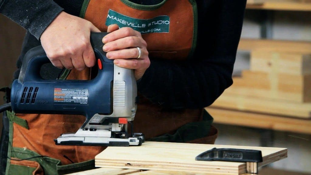 cutting wood with a jigsaw