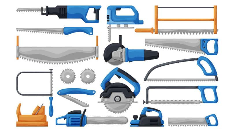 different types of saws