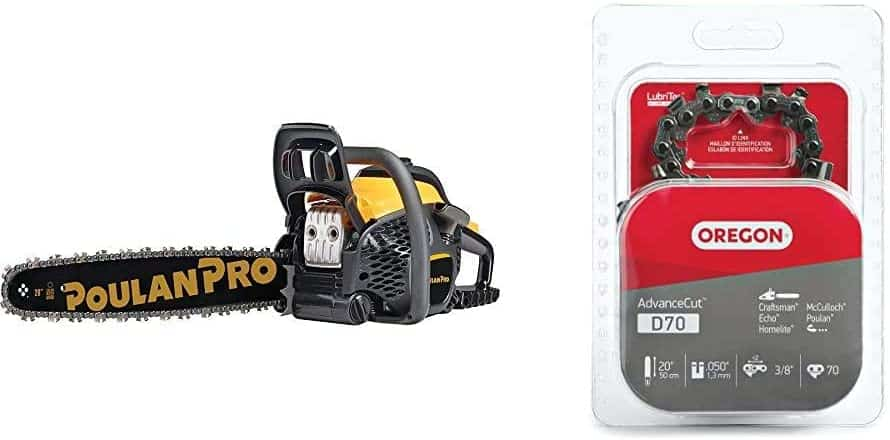 Poulan Pro 20 in 50cc 2-Cycle Gas Chainsaw